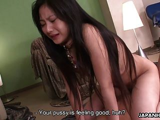 Kinky Japanese Babe Riding A Stiff Wang