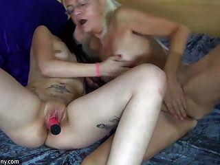 Oldnanny Lesbian Mature And Lesbian Teen Is Masturbating