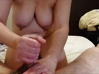 Busty Wife Giving Hubby A Good Time.