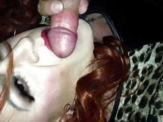 Redhead Tranny Cougar Sucking Cock