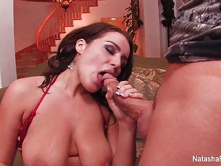 Sexy Babe Natasha Nice Sucks And Fucks On The Couch