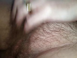 Wife Rubs Her Own Hairy Pussy Then I Creampie It