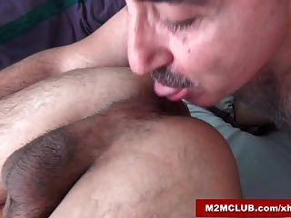 Hairy Daddy Barebacking His Loverboy