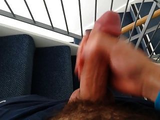 Str8 Everett Masturbation On The Stairs