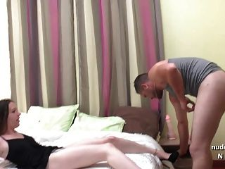 Horny Amateur French Brunette Gets Deepthroat And Hard Fuck