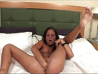 Brunette Self Fisting Pussy & Ass