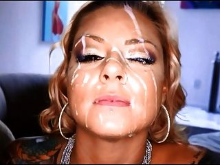 Beautiful Face Gets Cum Drenched Facial 2