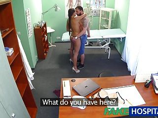 Fakehospital Brunette Wearing Tight Fit Nurse Outfit