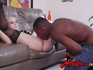 Christie Stevens Is A Hot Blonde Who Loves Black Cock