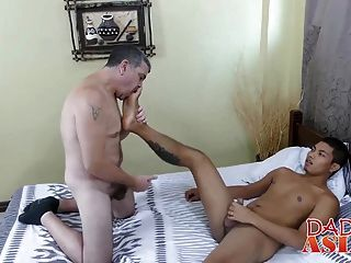 Daddy Enjoys Fucking Hard Asian Ass
