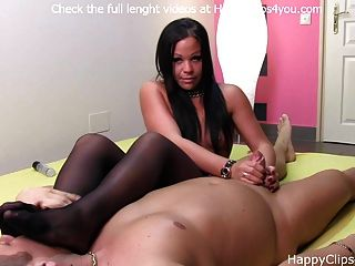 Foot Smelling Handjob By Betty Lane
