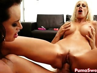 Euro Babe Puma Swede & Franceska In Crazy Threesome!