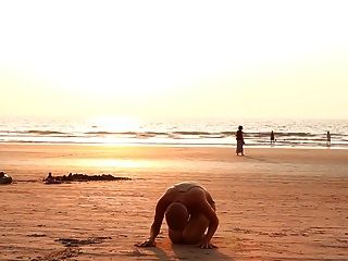 The Bald Yogi Girl On The Beach
