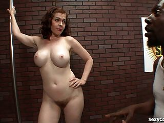 Naughty Milf Takes A Big Black Dick In Her Hairy Pussy!