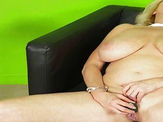 Busty Lady Alone