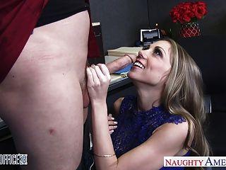 Busty Office Babe Shawna Lenee Swallow Cum