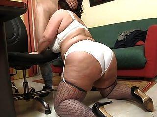 Italian Bbw Romina Analfucked