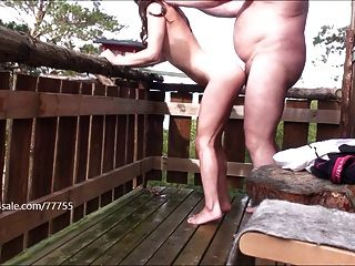 The Beast Takes Care Of Her Little Girl On Balcony