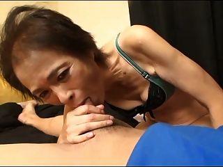 Skinny 69yo Asian Granny