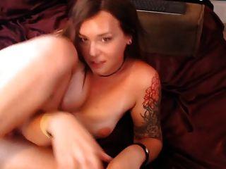 Tranny Small Tits Butt Plug Self Sucking