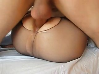 Not Mother In Law Anal Creampie Closeup In Pantyhose