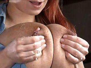 Big Haning Milking Fucked Tits