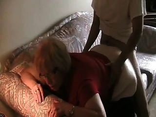 Grannie Creampie In The Ass