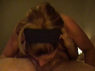 Sexy Mature Wife Deepthroats Long Cock From Hubby