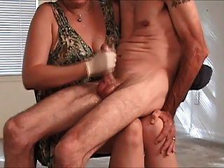 Mature Glove Handjob