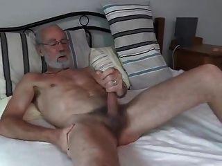 Silver Daddy Jerking