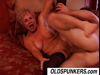 Jewel Is A Juicy Old Spunker Who Loves The Taste Of Cum
