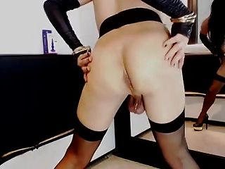My First Time Seeing Her Shove A Dildo In That Tight Ass