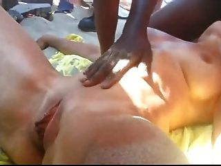 French Wife Fucked By Strangers At The Beach.