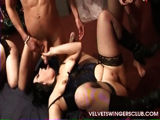 Velvet Swinger Club Party With Multiple Couples Trading Part
