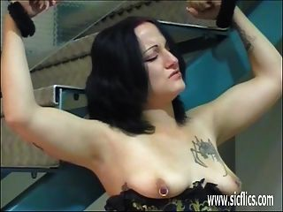 Extreme Amateur Fisted In Bondage At An Adult Store