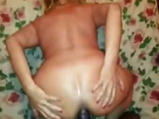 White Slut Gets Ass Drilled By Black Dong.
