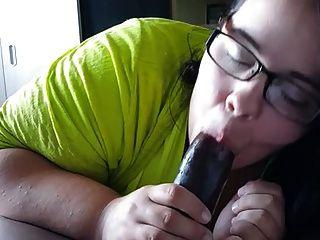 Pretty Bbw Stuffs Her Throat With Bbc
