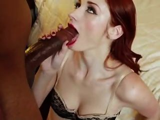 Redhead Loves Sucking Big Black Cock
