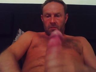 Hot Striaght Daddy Blows His Load On Cam