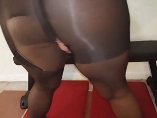 Kinky Chubby Ebony Masturbation With Sex Toy