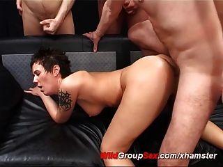Extreme German Bukkake Orgy
