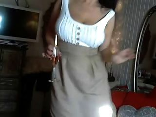 Horny Milf With Big Boobs Masturbates
