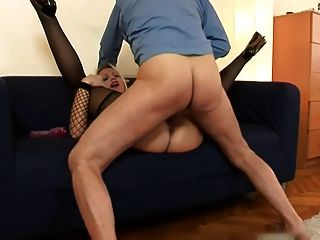 Old Man And Very Hot Blondie