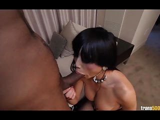 Gorgeous Venus Lux Rides Big Black Cock