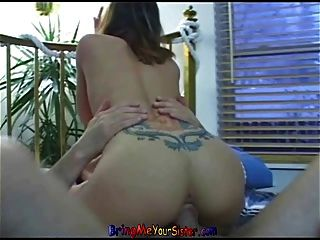 Shy Blonde Teen Fucks Her First Old Man As Not Her Brothe