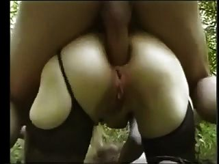 French Granny Anal Fuck In The Forest