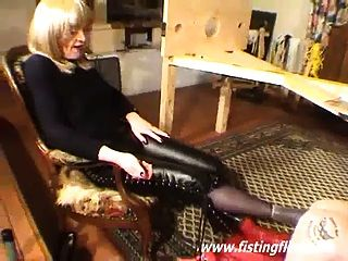 Bizarre Foot Fucked And Anal Fisted Slave