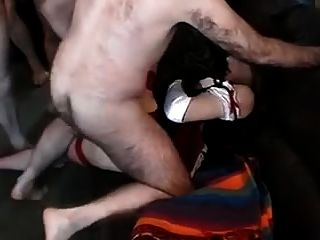 Tranny Slut Likes A Gang Bang And Cum