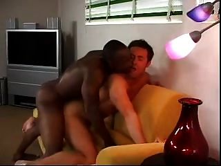 White Dude Loving Big Black Cock