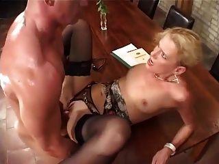 German Milf Boss Fucked Hard